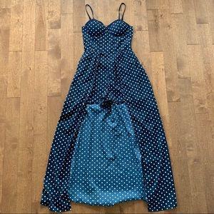 BAND OF GYPSIES Polka Dot Romper Dress